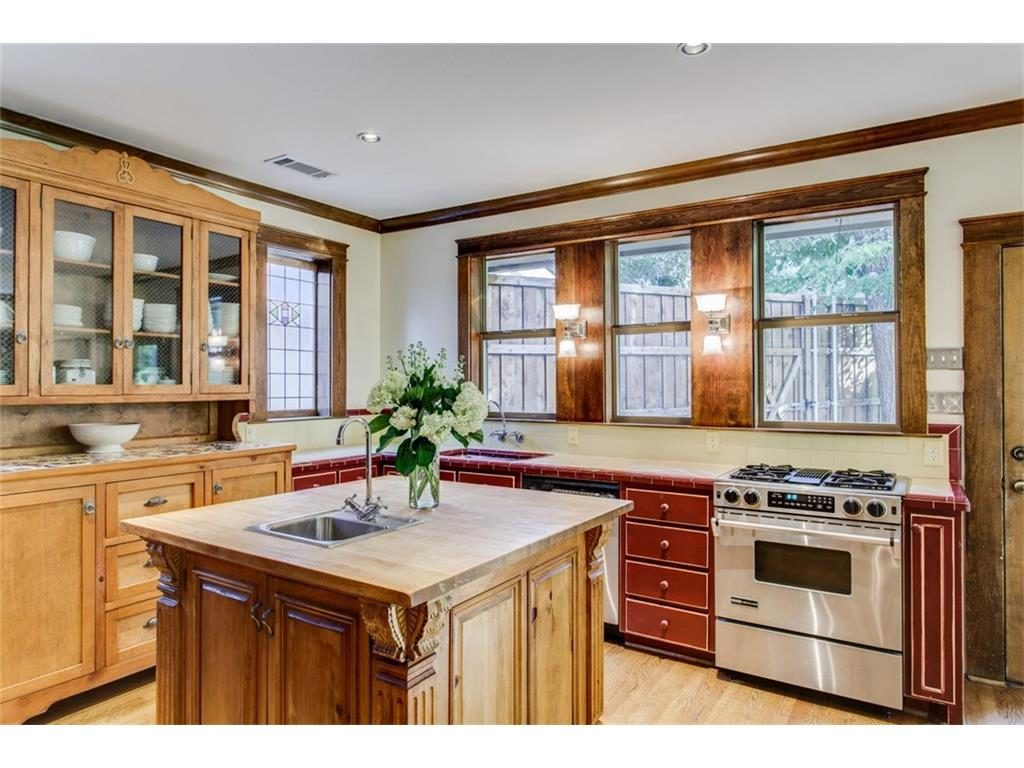 Secluded Hollywood Heights Tudor kitchen island.ashx