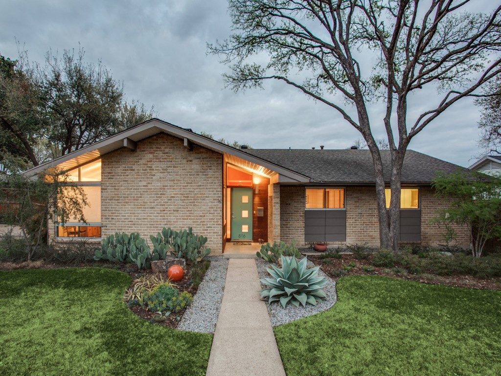 Old Lake Highlands Midcentury Modern 816-creekridge-dr-dallas-tx-MLS-1