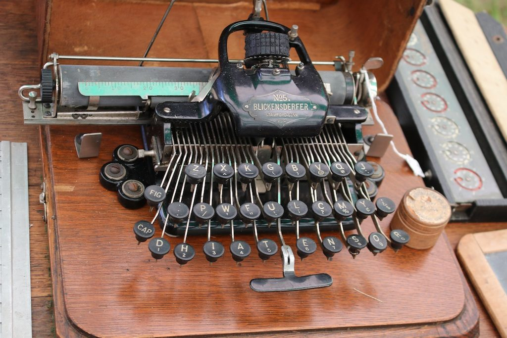 This 1800's typewriter had quite a history. Photo: Lisa Stewart Photography
