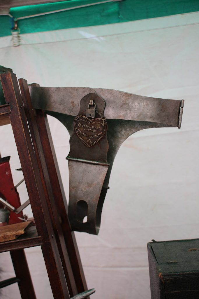 Ouch! A vintage chastity belt at Branford House Antiques. Photo: Lisa Stewart Photography