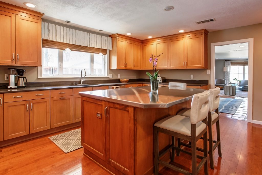 Ranch-style home with large kitchen