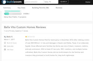 Bella Vita Custom Homes review 3