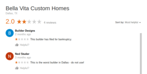 Bella Vita Custom Homes review 1