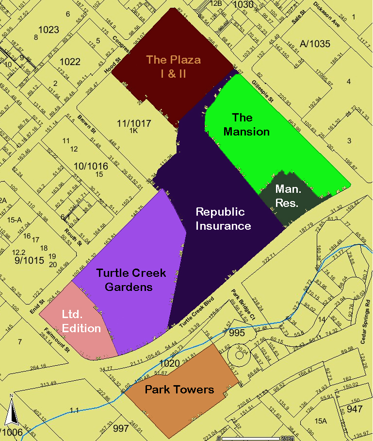 Turtle Creek Fairmount Map 1