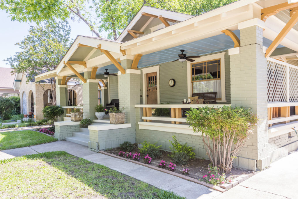 Enjoy deep porches and beautiful homes