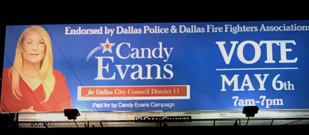 Candy For Dallas Billboard