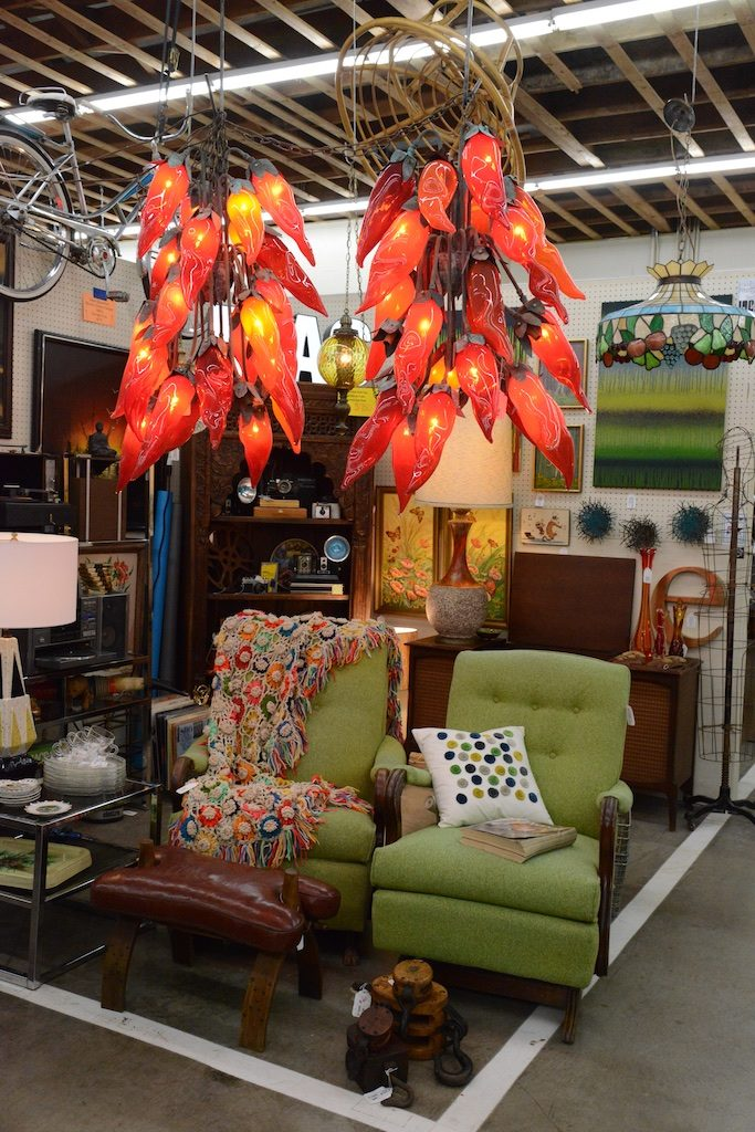 These chili pepper chandeliers would be great personality pieces in a new or older home. Photo: Lisa Stewart Photography