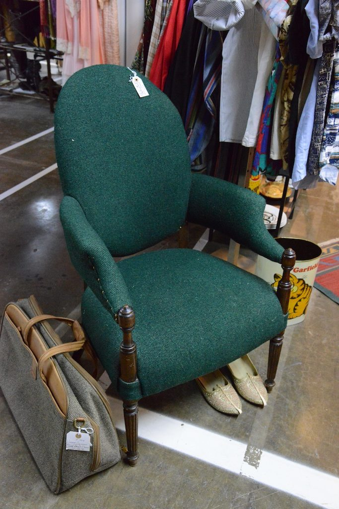 This nailhead chair is one of teh many bargains you'll find at Lula B's Oak Cliff. Photo: Lisa Stewart Photography