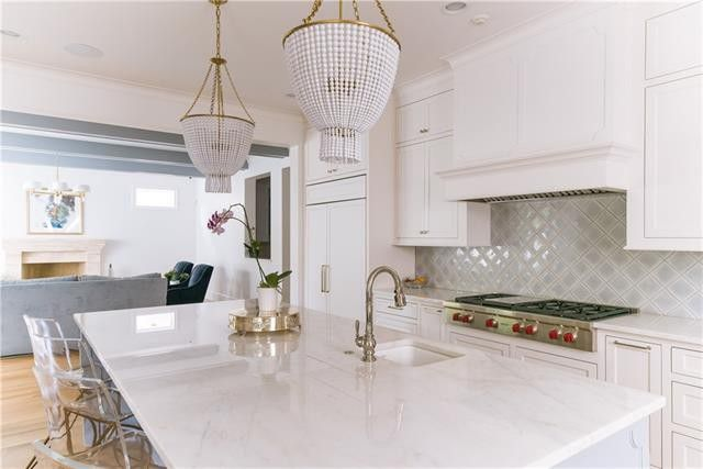 Genial Aerin Lauder Light Fixtures Grace The Kitchen Island. Park Custom  Transitional Features Inspired Finish Out
