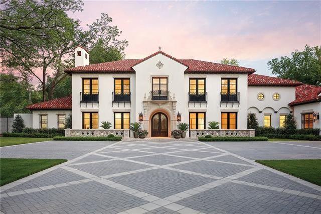 Sophisticated Old Preston Hollow Custom Mediterranean Reduced $655K | CandysDirt.com