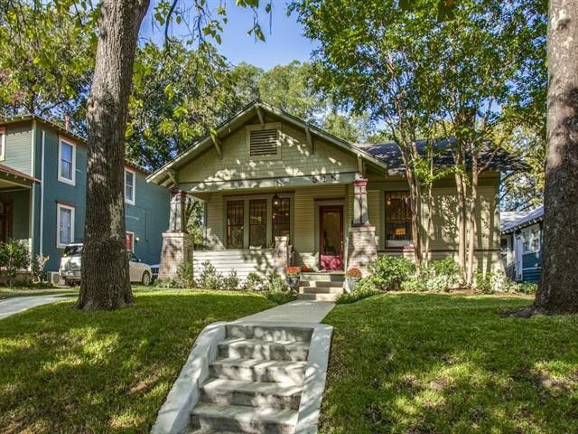 Celebrate Historic Oak Cliff Living with this Winnetka Heights Craftsman Bungalow | CandysDirt.com