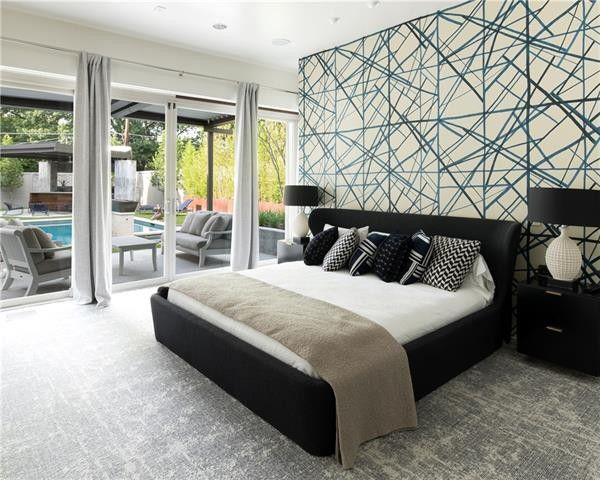 Master bedroom after simple decor updates.