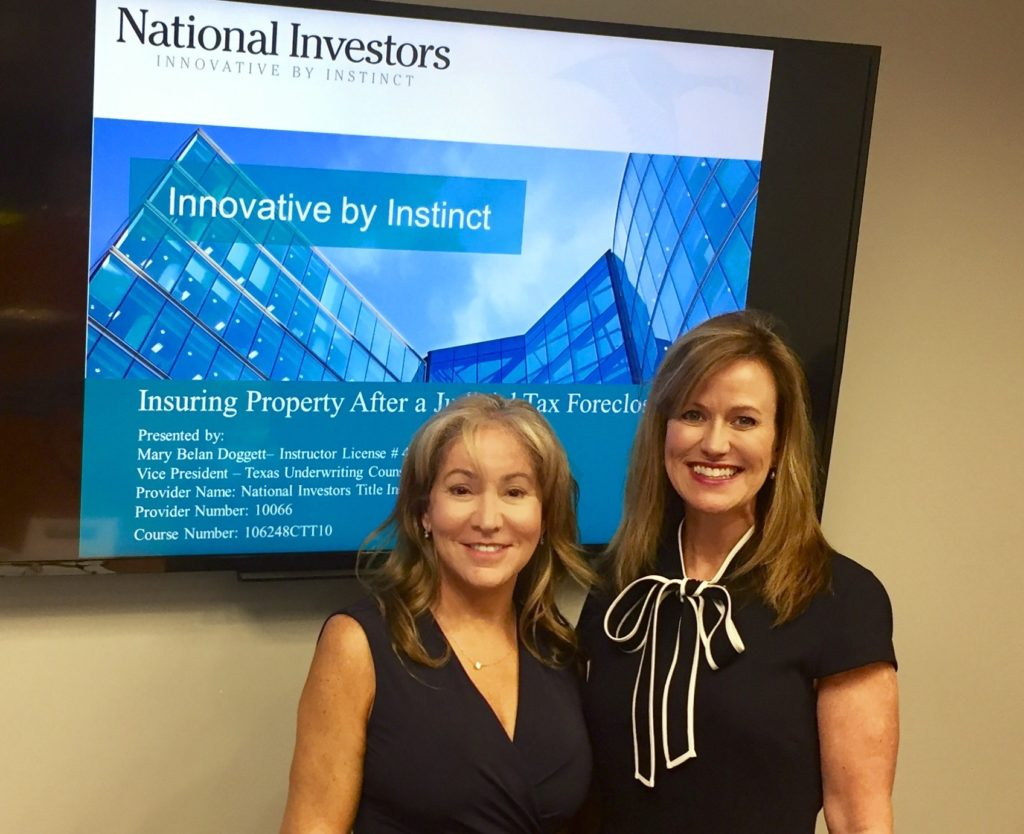 special contributor lydia blair with mary doggett vp of national investors title insurance