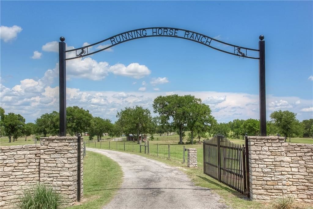 Running Horse Ranch entry gate
