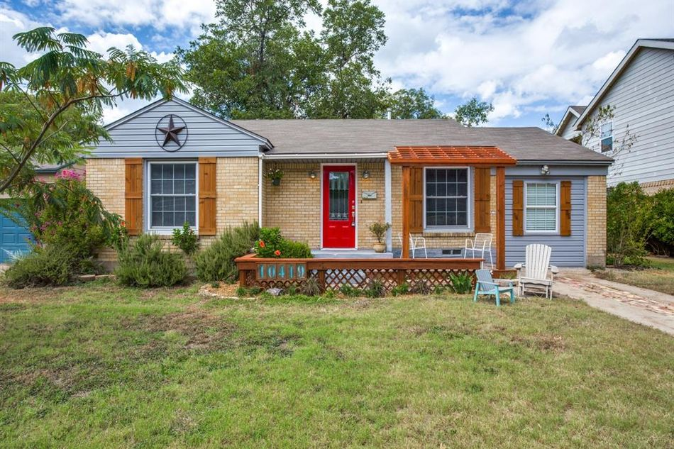 This home at 10419 Fern Drive, Dallas, is listed at $199,900 and it's cute, clean, and just what a young family might need, in a great location near White Rock Lake.