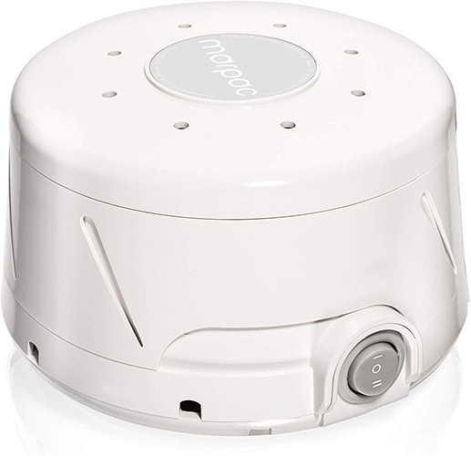 Sleep soundly with a white noise machine.