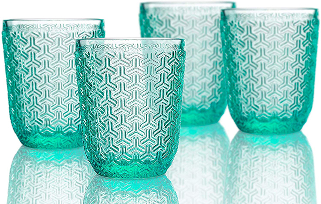 Color your kitchen with new barware.