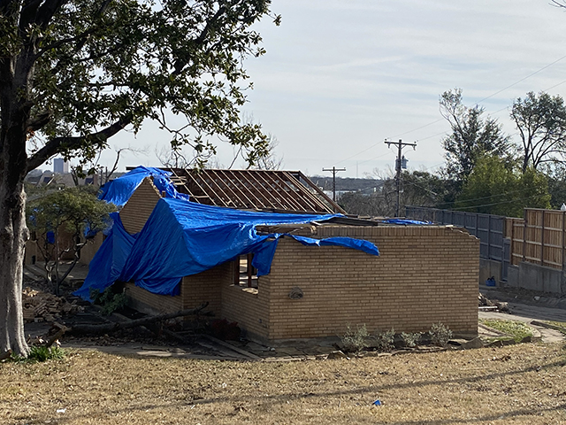 Mika Manaster's home was destroyed in October's tornado.