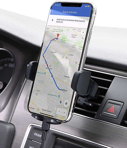 Following directions on the go? Keep your hands free to drive, please!