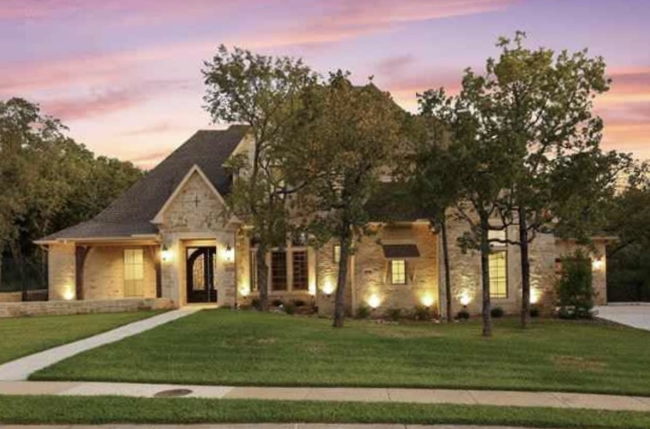 Knowing what we know now, a home like this one in Keller's Rolling Wood neighborhood is the perfect spot to be stuck with family.