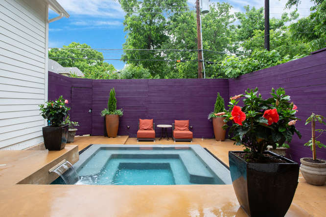 Pools can be small to fit the available space