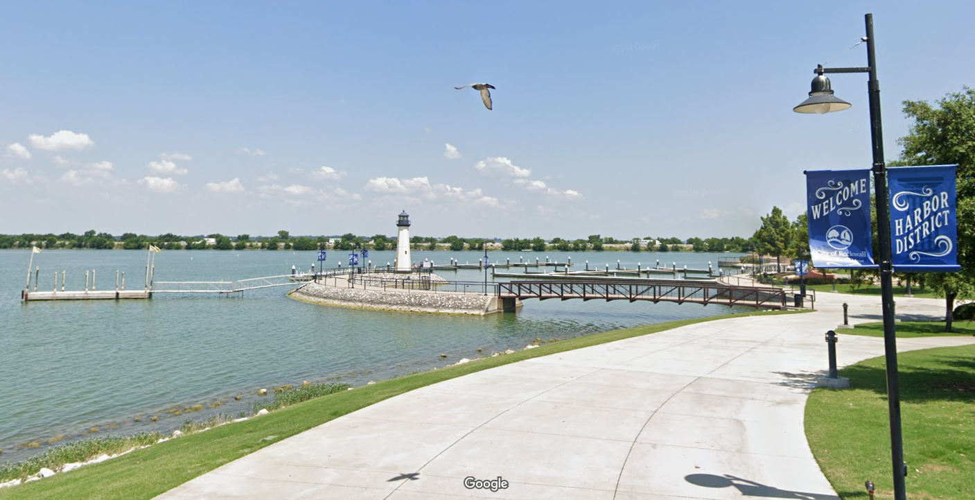 One of Rockwall's biggest attractions is its Harbor District (Google Maps)
