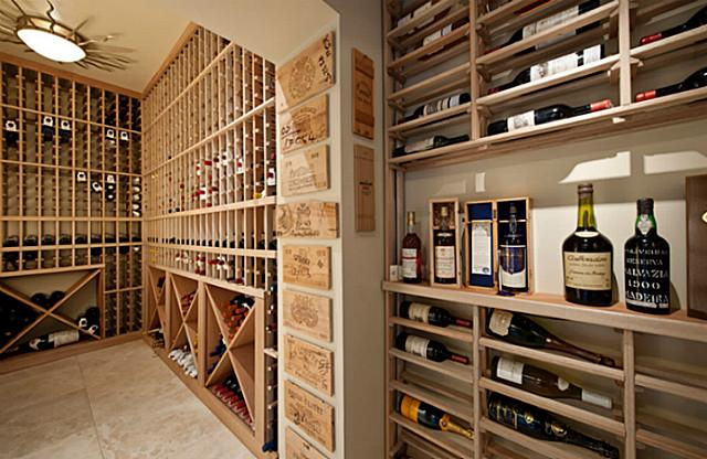 3828 Turtle Creek wine cellar