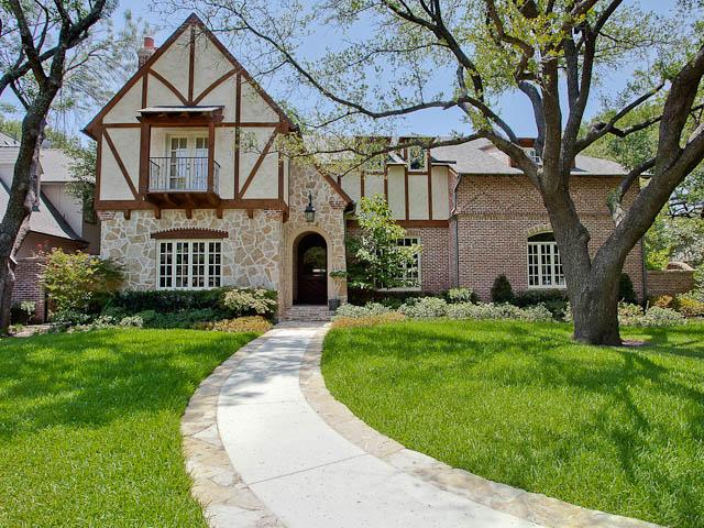 Open house sunday 5630 greenbrier in divine devonshire for Modern tudor house