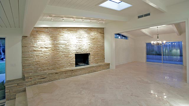This mid century modern north dallas ranch really puts the for Idlewood flooring