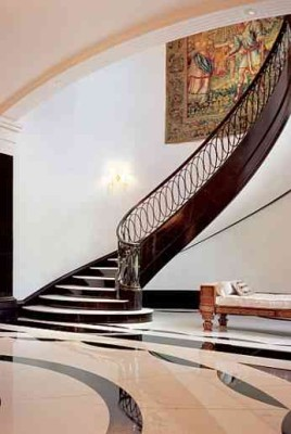 Baron House foyer Architectural Digest
