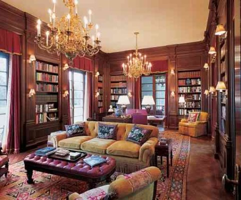 Baron House library Architectural Digest