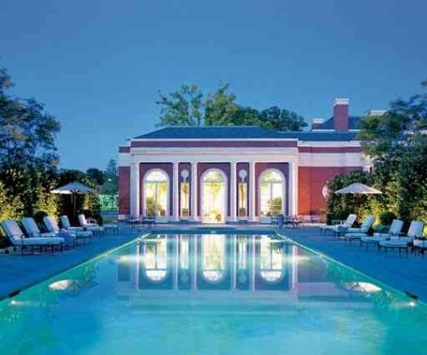 Baron House outdoor pool Architectural Digest