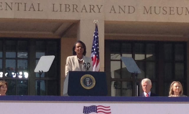 Bush Center Condi Rice
