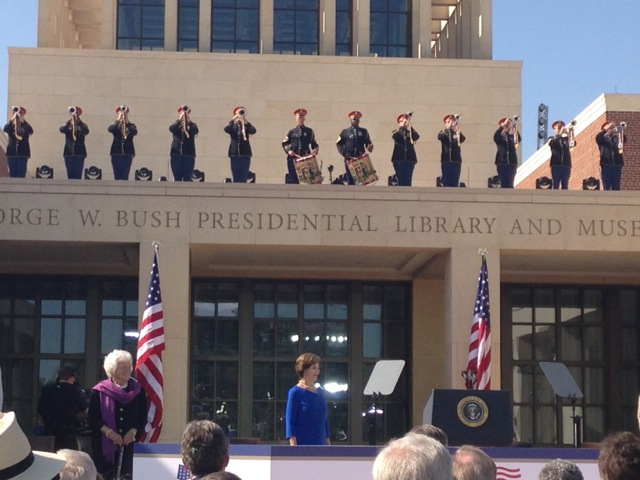 Bush Center Laura and Barbara Bush