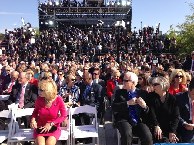 Bush Center crowd seating