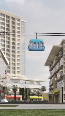 Dallas Midtown gondolas
