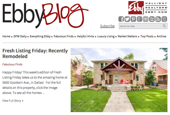 Ebby Blog Home Page