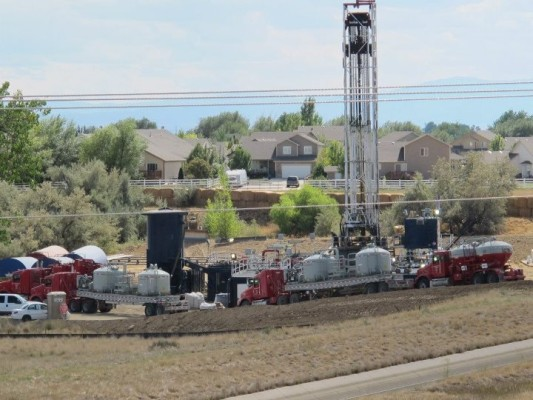 Fracking in Mead Colo