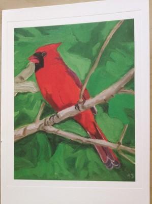 GWB Xmas bird card