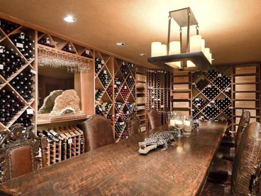 Kirks' Rockin K wine cellar