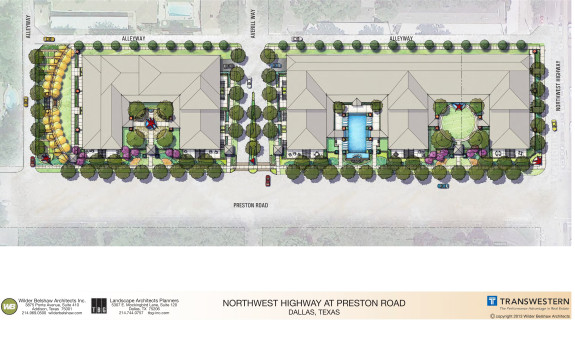 Landscape site plan Preston and Northwest Highway