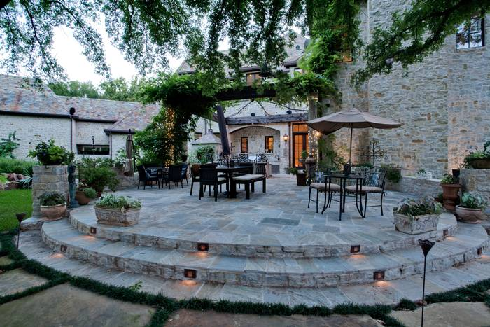 M Mansion patio
