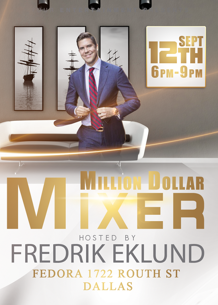 Million Dollar Mixer Fredrik Eklund