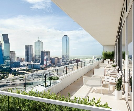 Perot Penthouse Arch Digest balcony