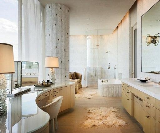 Perot Penthouse Arch Digest bath