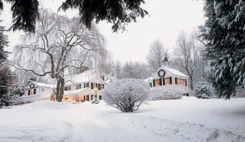 Snowy Christmas Home